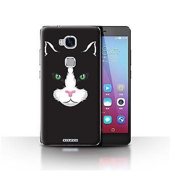 STUFF4 Case/Cover for Huawei Honor 5X/GR5/Black Cat/Animal Faces