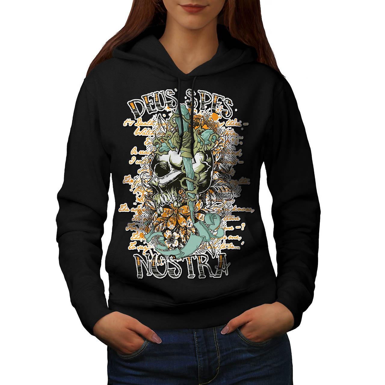 Monster Skull Curse Death Land Women Black Hoodie | Wellcoda