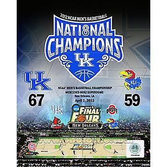 Universiteit van Kentucky 2012 NCAA Mens basketbal National Champions samengestelde sport foto