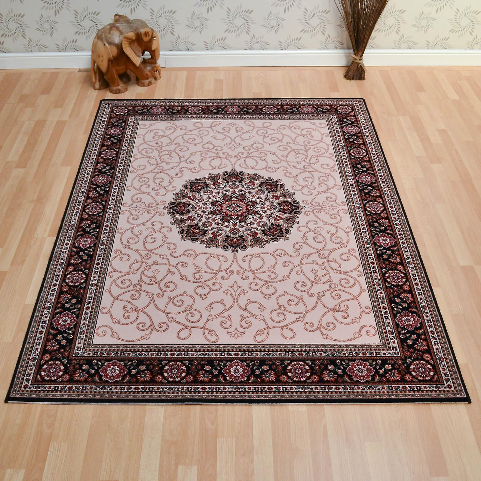 Lano Imperial Rugs 1954 687 In Beige And Navy