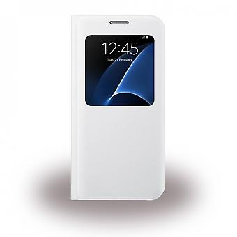 Samsung EF-CG930PW S-View Cover Hülle Samsung G930F Galaxy S7 weiss