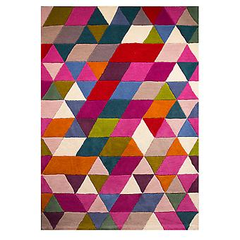 Multicolour Geometric Modern Rug Dynamic