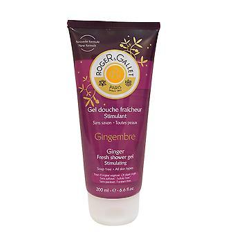 Roger & Gallet Ginger Fresh Shower Gel Stimulating 6.6 oz