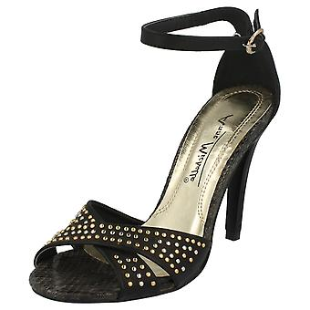 Ladies Anne Michelle Ankle Strap Heeled Sandals L3391