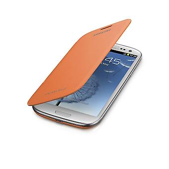 Samsung Galaxy S3 Flip Housse Etui - Orange