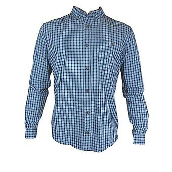 Debenhams Red Herring marineblauw gecontroleerd lange mouw Shirt TP493-Small