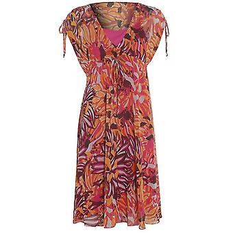 M & S Floral Chiffon Dress DR770-8