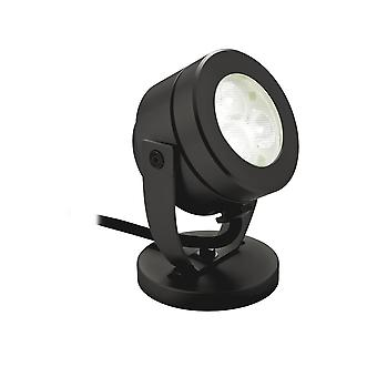 FIRSTLIGHT schwarze Oberfläche LED Teich Spotlight