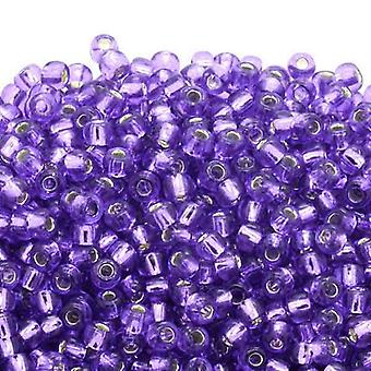 Toho Toho Seed Beads 6/0 - Silver Lined Purple - 10g