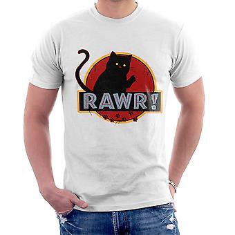Jurassic Rawr Kitten Cat Park Men's T-Shirt