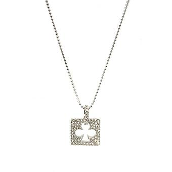 W.A.T Swarovski Crystal Ace Of Clubs Necklace