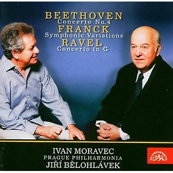 Ivan/Belohlavek Moravec - Beethoven: Concierto nº 4; Franck: Variaciones sinfónicas; Ravel: Concierto en la importación de los E.e.u.u. G [CD]