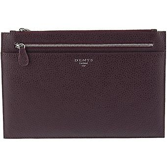 Dents Pebble Grain Travel Pouch - Burgundy