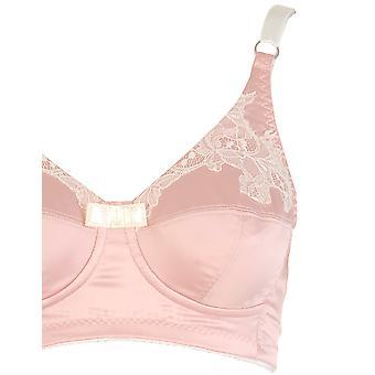 Womens Di Murini Pink Satin with Chic Lace Detail Ladies Mastectomy Bra