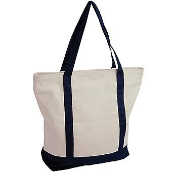 Jassz Bags Canvas Contrast Tote Shopping Bag