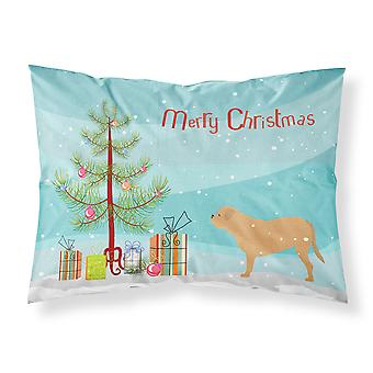 Dogge de Bordeaux Merry Christmas Tree Stoff Standard Kissenbezug