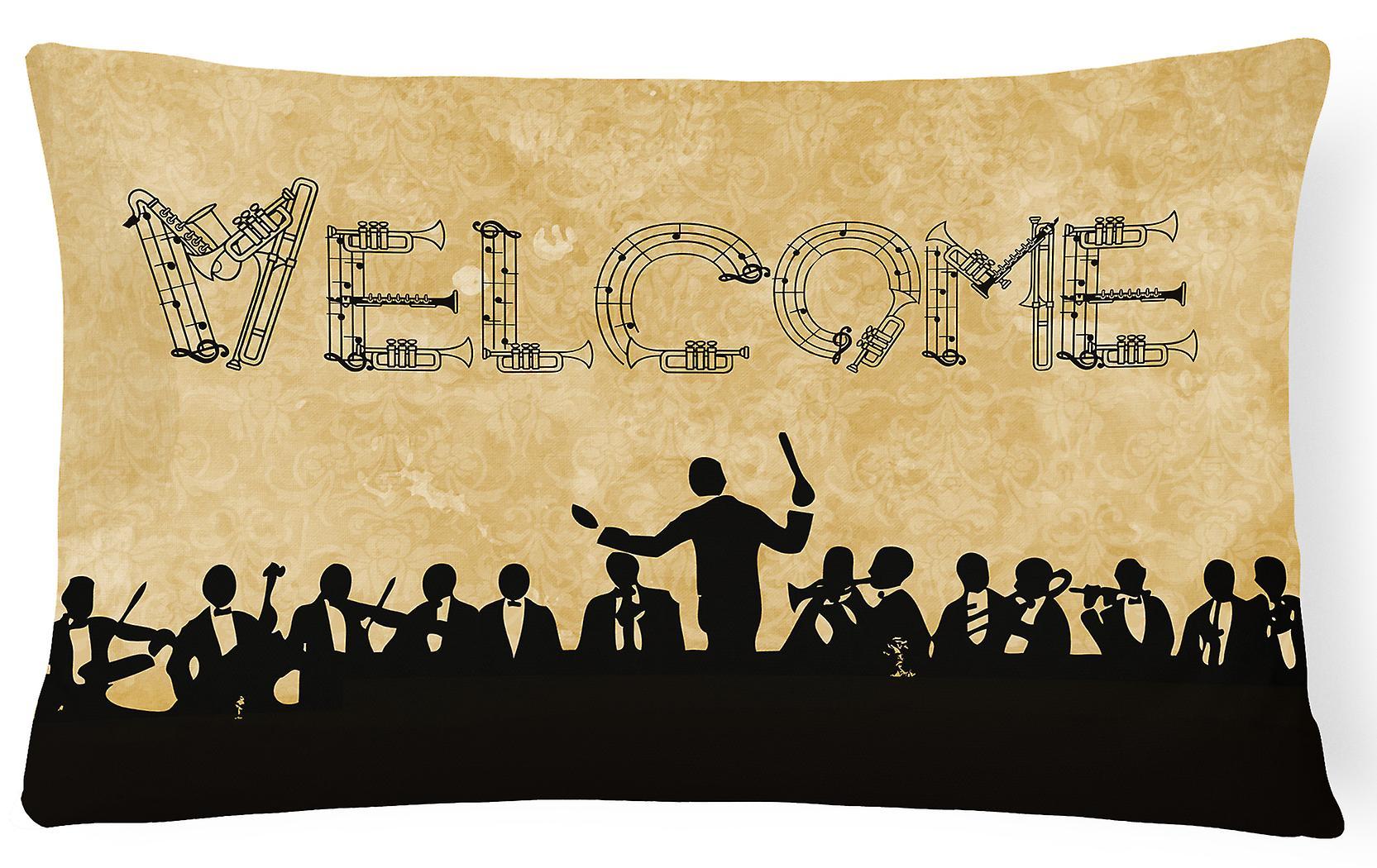 Tissu Symphonie Toile Décoratif Oreiller Bienvenue 34qc5ALRj
