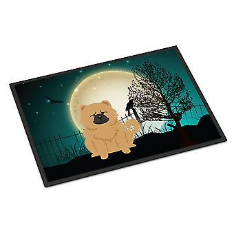 Halloween Scary Chow Chow Cream Indoor or Outdoor Mat 24x36