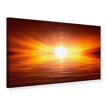 Canvas Print Glowing Sunset
