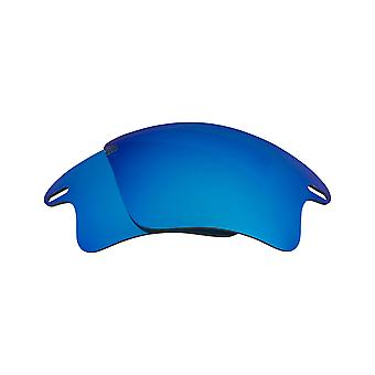 Fast Jacket XL Replacement Lenses Polarized Blue & Silver by SEEK fits OAKLEY