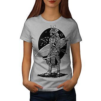 Warrior Surf Cool Fashion Women GreyT-shirt | Wellcoda