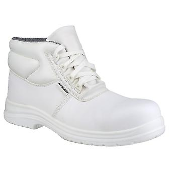 Amblers FS513 Unisex White Safety Boots