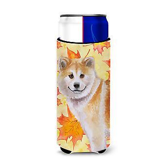 Shiba Inu Fall Michelob Ultra Hugger for slim cans