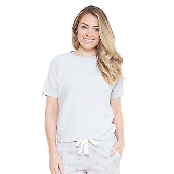 Cyberjammies 3693 Women's Beetrix Grey Solid Colour Pajama Pyjama Top