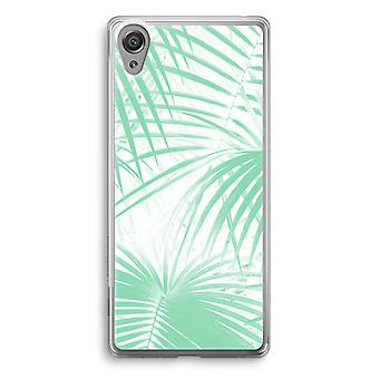 Sony Xperia XA1 Transparent Case (Soft) - Palm leaves