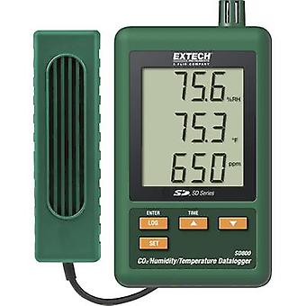 Multi-channel data logger Extech SD800 Unit of measurement Temperature, CO2, H
