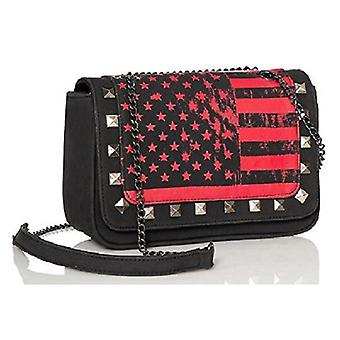 Abbey Dawn by Avril Lavigne Rockstar Cross body Handbag - Red/Black