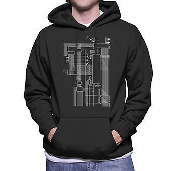 Dragon 32 Computer Schematic Men's Hooded Sweatshirt