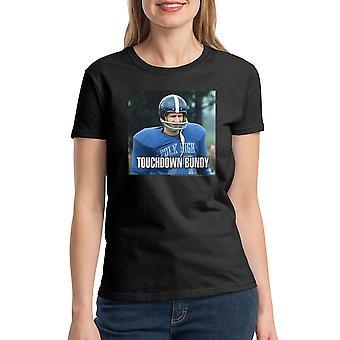 Married With Children Touchdown Bundy Women's Black T-shirt