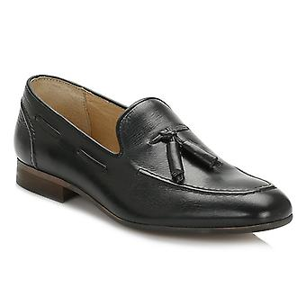 Hudson Mens Black Pierre Calf Leather Loafers