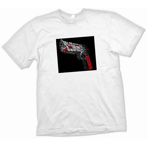 Mens T-shirt - Pulp Fiction - Zitate - Gun-Form