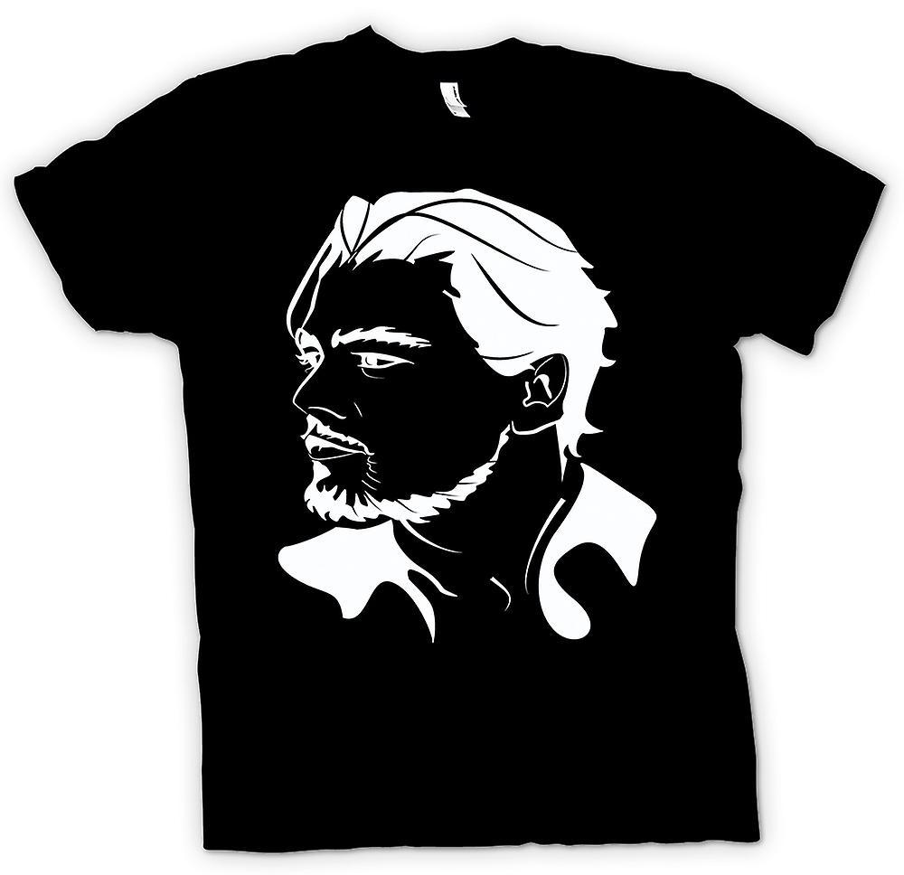 Kvinner t-skjorte-Leonardo Dicaprio portrett