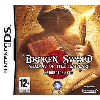 Gebroken zwaard de Shadow van de Tempeliers - knippen bestuur (Nintendo DS)