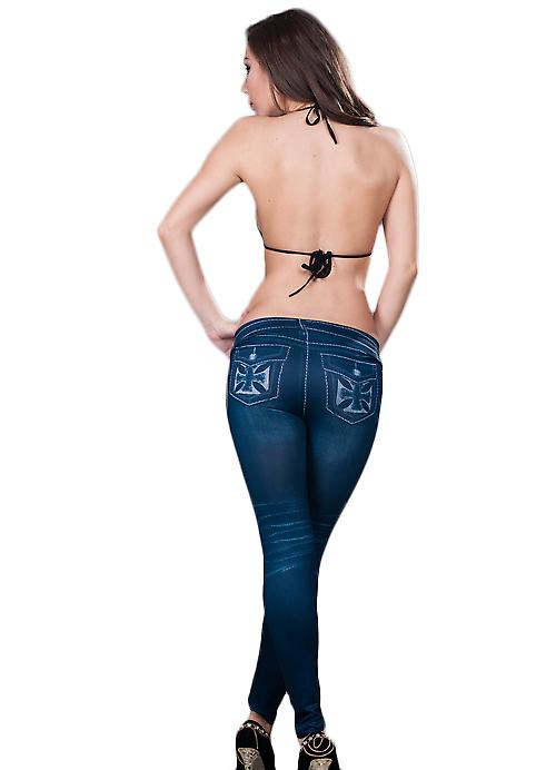 Waooh - Fashion - Leggings jean denim long