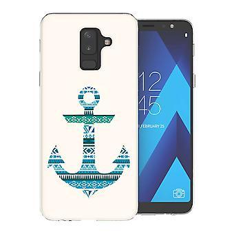 Samsung A6 Plus (2018) aztekische blauen Anker TPU Gel Fall