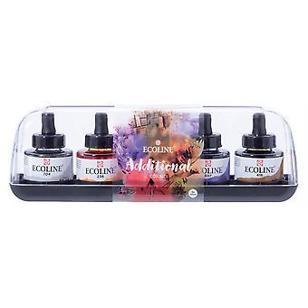 Talens Ecoline 5 x 30ml Additional Colours Ink Set