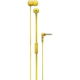 Degauss Labs SPKRS universal in-ear headphones headset 3.5 mm yellow