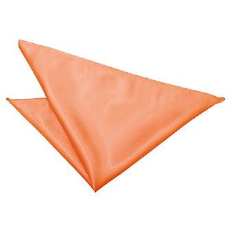 Coral Plain Satin Handkerchief / Pocket Square