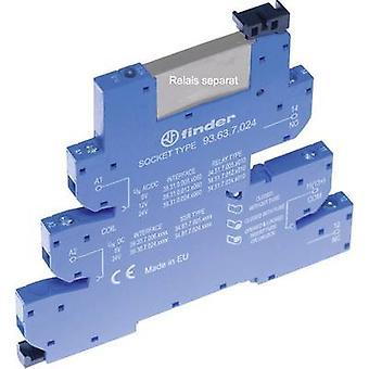 Relä sockel + fäste, + LED, + EMC emission supressor 1 dator Finder 93.63.0.024 kompatibel med serien: Finder 34 serie Finder 34,51, Finder 34.81