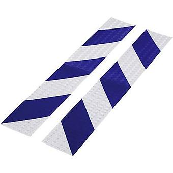 Conrad Components 1226956 Warning stripe RTS Blue, Silver (L x W) 400 mm x 60 mm 2 pc(s)
