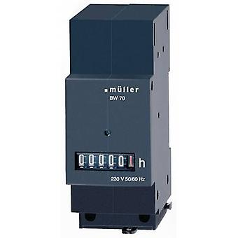 BW7029 Operating hours timer Roller counter, Distributor installation, Assembly dimensions 35 x 45 mm, 6-digit, 230 V/50-60 Hz