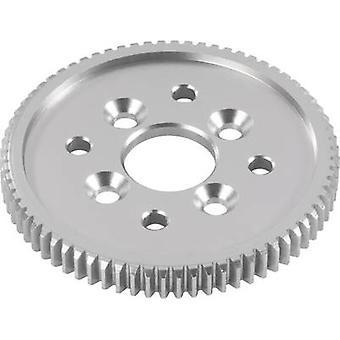Tuning deler Reely 532033C Aluminium 65 tenner viktigste cogwheel (0,6 modul)