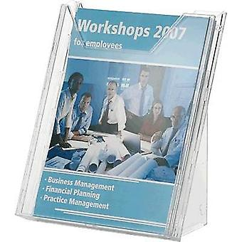 Durable Brochure holder 8578-19 Transparent 242 mm x 291 mm x 217 mm No. of compartments 1