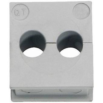 Icotek QT 2/4 Cable grommet Terminal Ø (max.) 4 mm Elastomer Grey 1 pc(s)
