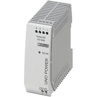 Rail mounted PSU (DIN) Phoenix Contact UNO-PS/1AC/12DC/55W 12 Vdc 4.6 A 55 W 1 x