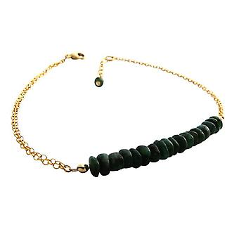 Emerald bracelet green Emerald bracelet jewellery gold plated
